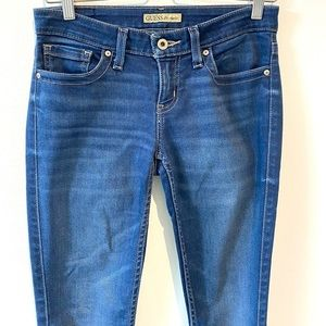 Guess | blue skinny jeans low rise